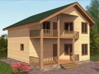 Проект Д 23 Дом 8x8 с балконом