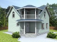 Проект К3  Дом каркасный 7x7