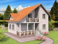 Проект К8 Дом каркасный 6x8