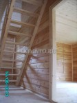 Лестница в доме из бруса фото