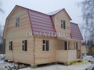 Дом из бруса на опорно-столбчатом фундаменте