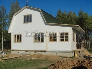 Дом из бруса на ленточном фундаменте фото