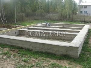 Ленточный фундамент дома