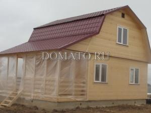 Дом деревянный на ленточном фундаменте