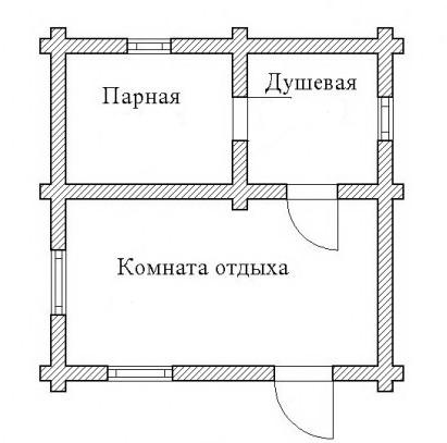 план бани
