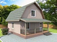 Проект К19 Дом каркасный 7.5x6