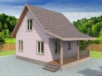 Проект К18 Дом каркасный 6x7.5