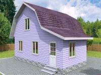 Проект К17 Дом каркасный 7x8