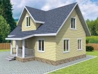 Проект К16 Дом каркасный 9x6