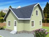 Проект К15 Дом каркасный 7.5x8