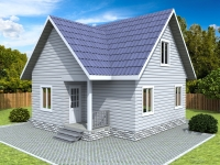 Проект К14 Дом каркасный 7.5x8
