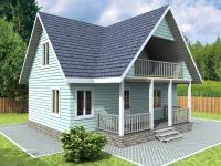 Проект К13 Дом каркасный 8x9