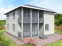 Проект К4 Дом каркасный 9x8