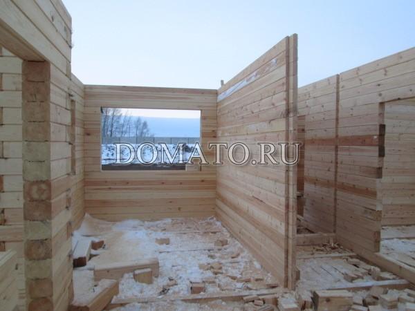 Строительство одноэтажного дома из бруса своими руками