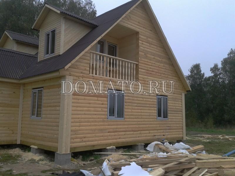 Дом из бруса по проекту Д28