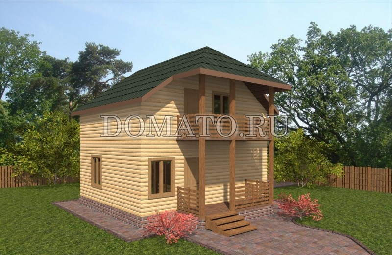 Проект двухэтажного дома 7.5×7