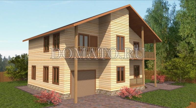Проект дома с гаражом 11×9.5