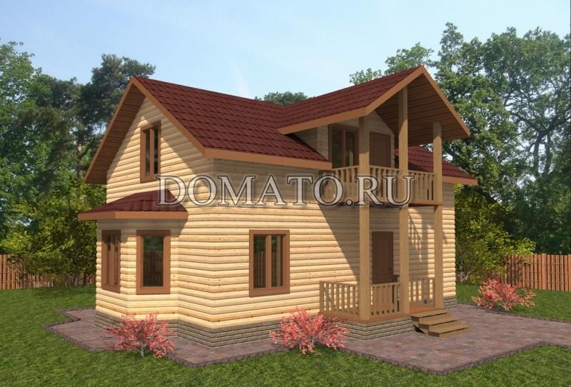 Деревянный дом 10×8.5, проект