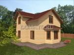фасад деревянного дом 10×8.5