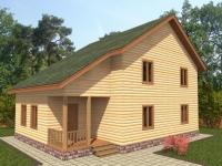 Проект Д 14 Дом 8x8 с балконом