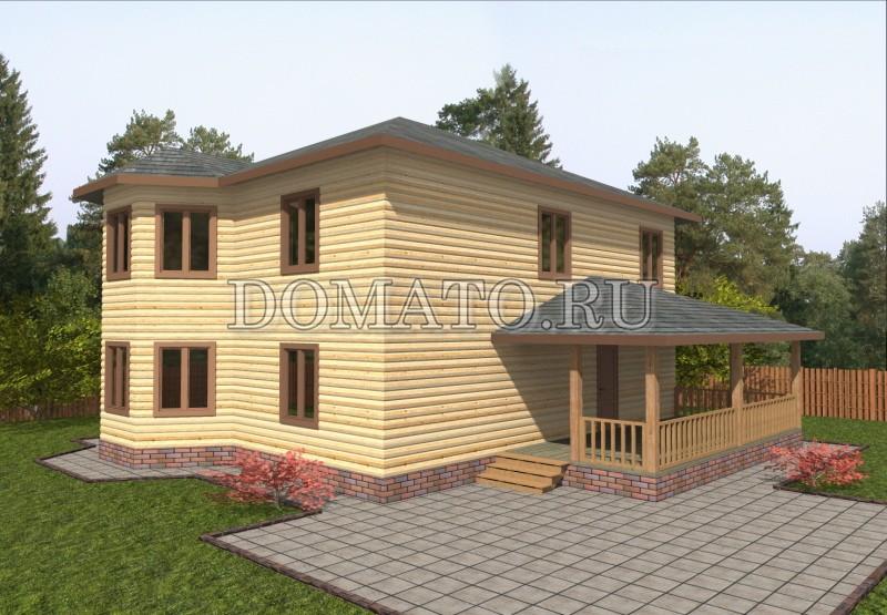 Дом 11.5×9 из бруса