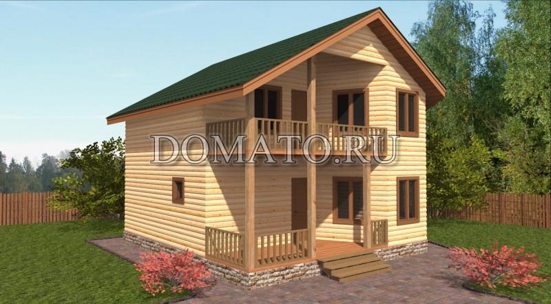 Дом 8×8 с балконом_д23