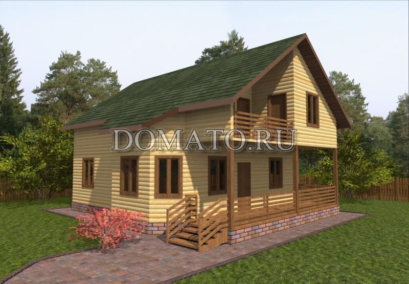 Проект, загородный дом 10.5×9