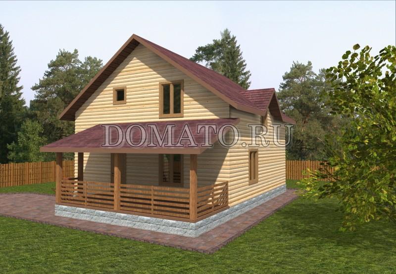 Проект брусового дома 10.5×8