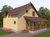 Проект Д 29 Дом 8x8 с балконом
