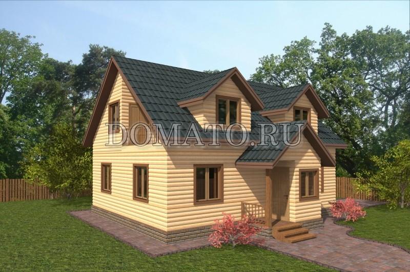 Проект загородного дома, дом 10х8 из бруса