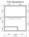 план фундамента дома из бруса 9 на 8