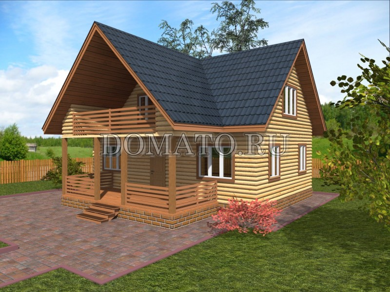 Дом 8.5×9 из бруса
