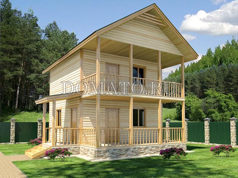 Двухэтажный дом 6×8, проект Д10