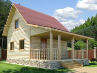 Проект Д 4 Дом 9x6 с террасой