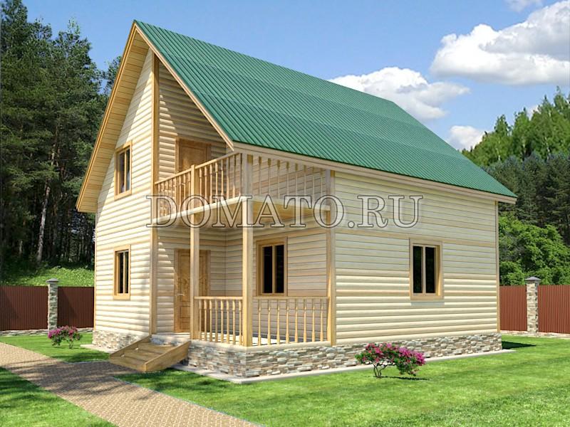 Проект дома 8×8, проект Д5