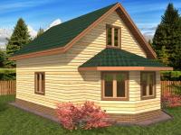 Деревянный дом 6×6 с эркером
