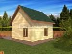 фасад деревянного дома 6×6 с эркером