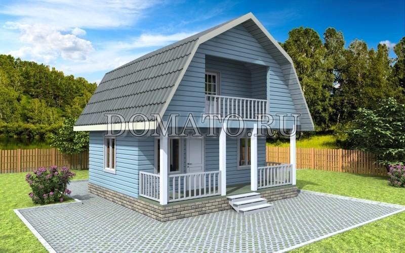 Каркасный дом 6×6, проект К1