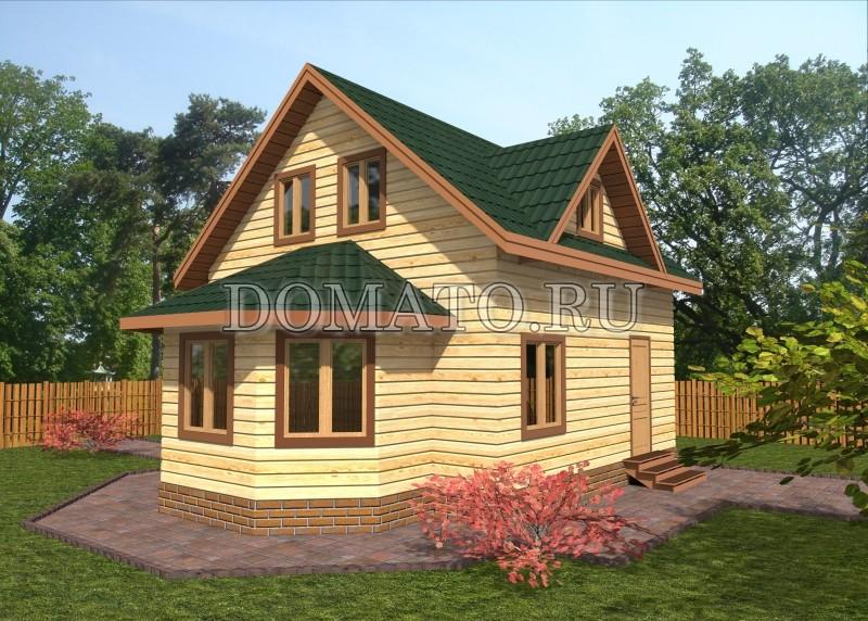 Дачный дом 6×6, проект Д17