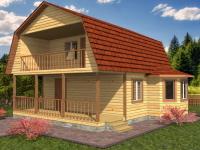 Дом 8×8 с террасой
