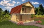 фасад дома 8×8 с террасой