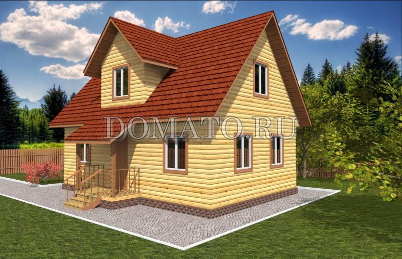 Дом из бруса 6×9, проект Д15