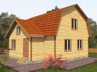 Дом из бруса 7.5×8