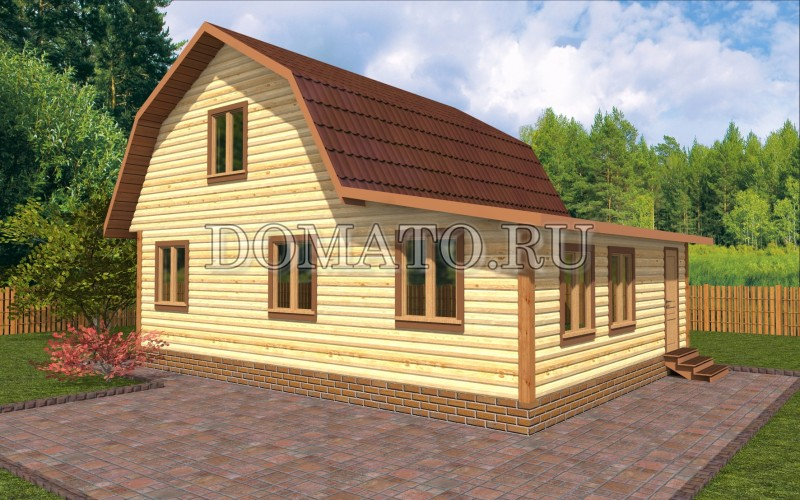 Дом 7×6 с верандой, проект Д19