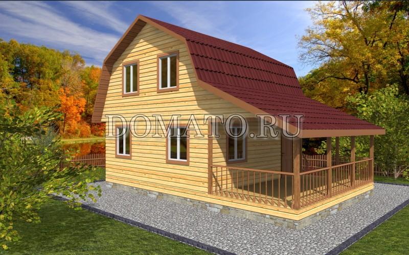 Дом 6×9 с мансардой, проект Д11