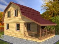 Проект Д 11 Дом 6x9 с балконом