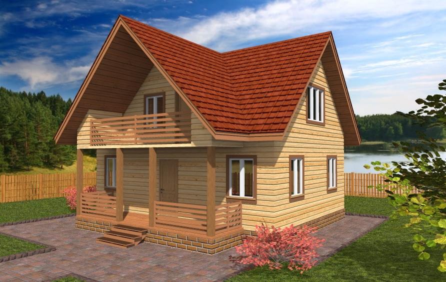 Проекты домов с мансардой и балконом..