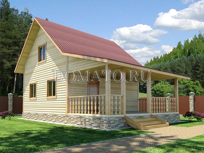 Проект дома 6х9 с террасой, проект Д4