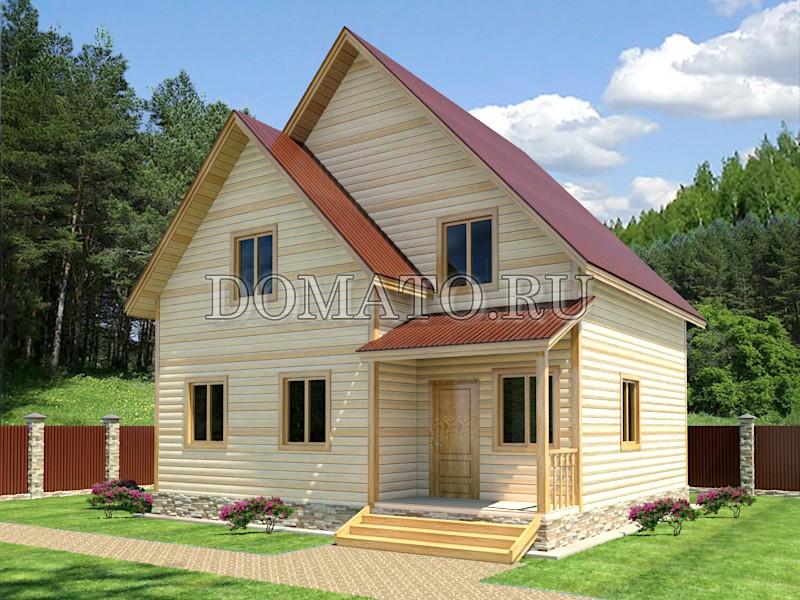 Полуторный дом 8×8.5, проект Д8