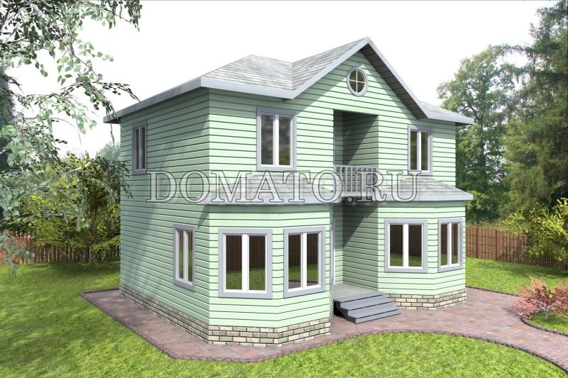 Каркасный дом 7×8.8